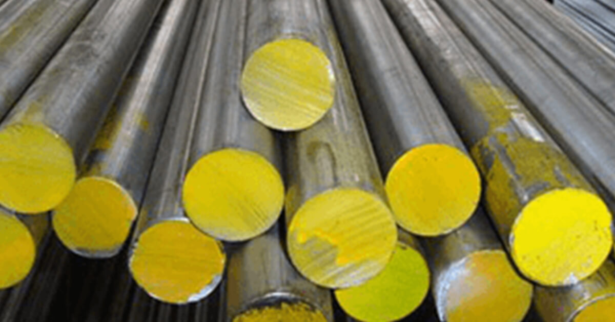 Alloy Steel Round Bars in a factory